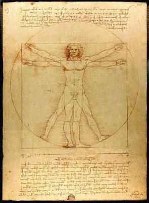 Der vitruvianische Mensch (Leonardo da Vinci)
