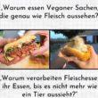Veganes Essen sieht aus wie Fleisch
